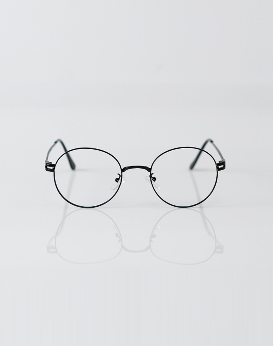 2color metal frame glasses